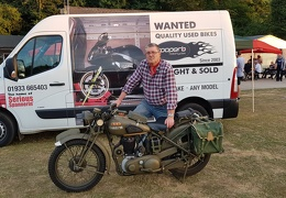 CTN 1 - Winner Richard White with his 1942 BSA 500 M20