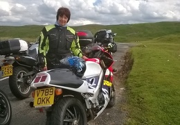 Cathy-King-and-bike-Wales